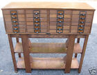 Antique Oak Filing Cabinet 24 Drawers old file index card section barrister