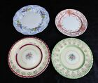 Lot of 4 Decorative Plates Hand Painted Gold Leaf Royal Albert Lovelace Leighton