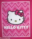 HELLO KITTY CHEVRON STRIPES Baby Quilt Top on 100% COTTON FABRIC By The  Panel