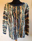 Vintage Men's Sweater COOGI 100% cotton Australia size SS Multi color pullover