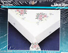 BUCILLA PETITE BOUQUET TABLECLOTH STAMPED CROSS STITCH EMBROIDERY KIT