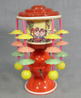 1950s VINTAGE JAPAN MERRY GO ROUND CAROUSEL CELLULOID WIND UP MUSICAL TOY ~WORKS