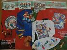 Vintage CHRISTMAS Lot of Fabric Appliques~DAISY KINGDOM~Santa/Drummer/Reindeer++