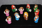 VINTAGE 1981 RARE 10 Piece Nativity Christmas Ornaments Tree Decorations X872