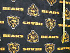 NFL CHICAGO BEARS FLOCKED  FLEECE  FABRIC 54X57 INCHES