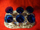 antique vintage collectable japanese saki goblet set with serving tray