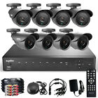 SANNCE 8CH 960H HDMI Security DVR 800TVL Outdoor Night IR CCTV Camera System P2P