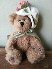 BOYDS BEARS Archive Collection CARMELA plush SPRING brown bear white hat EASTER