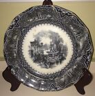 Antique Black Mulberry Transfer Ware 8 1/2
