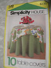B Simplicity House Table Covers Instruction Cards Pattern 120