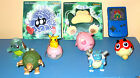 7 POKEMON TOYS + 2 STICKERS NICE CONDITION VERY RARESPINNING TOYS BUBBLE MAKERS