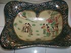 PRE-WAR GEISHA GIRL HAND PAINTED BOWL * SUPER RARE ASIAN art nouveau BEAUTIFUL