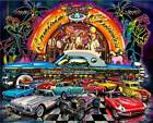 Classic Cars Puzzle 1000 pc Jigsaw Cruising Diner Oldies Retro Band  New Sealed