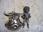 Antique Victorian Silverplate Quadruple Plate Meriden B Figural Boy Toothpick