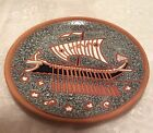 Vintage Bonis Pottery Plate Hand Made In Rhodes Greece
