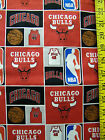 NBA CHICAGO BULLS 100% COTTON FABRIC BY THE 1/2 YARD