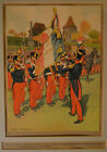 Original Frederic Regamey Military French Painting Framed Matted RARE!!