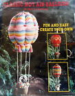 Vtg 80s Hot Air Balloon Soft Sculpture PATTERN to make hanging basket baby room