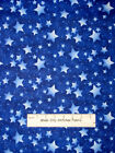Out Of This World Blue Star Sky Glitter  Fabric Traditions Cotton Fabric 26