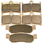 F+R Sintered Brake Pads For Yamaha YZF R1 R6 YZF 600RR 1999-2002 2001 2000