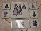 VTG VILLEROY&BOCH 7 Trays Appetizer Plates LUXEMBOURG Made 1840/1860/1780/1840