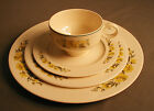 YELLOW DINNER PLACE SETTING - CUP, SAUCER, PLATES - cm