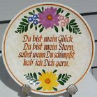 VTG GERMAN SCHRAMBERG LOVERS PLATE EARLY SMF HALLMARK