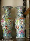 A Superb Pair of Large Chinese Famille Rose Doucai Porcelain Vases 19