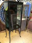 ANTIQUE MEDICAL CABINET w CABRIO LEGS machine age dental industrial steel metal