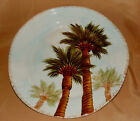 Hand Painted BAJA Tabletops Unlimited PALM TREE Tropical Beach DINNER Plate