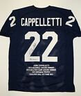 John Cappelletti Signed Autographed Navy Blue Stat Jersey- JSA W Authenticated