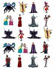 20 WATERSLIDE DISNEY VILLIANS NAIL ART DECALS