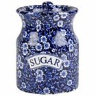 Calico Sugar Storage Jar by Burleigh - Burgess & Leigh