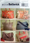 BUTTERICK SEWING PATTERN TOTE , LARGE 6 STYLES # B4318 ALL SIZES INCLUDED