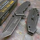 TAC-FORCE Stone Washed Spring Assisted Open TACTICAL TANTO Folding Pocket Knife