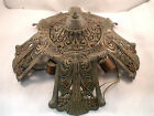 RIDDLE CO. 1920's-30's ART DECO SLIP SHADE 5 LIGHT CHANDELIER CEILING FIXTURE #1