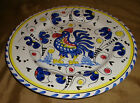 Blue Yellow White ITALIAN Majolica ROOSTER French COUNTRY Dinner PLATE Italy
