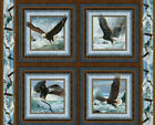 Quest Of The Hunter Eagle Eagles Perch Flight Cotton Fabric Cut Into Panel