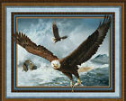 Quest Of The Hunter Eagle Scenic CP40285 Nature Wild Wings Cotton Fabric PANEL