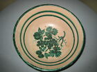 Bowl Terracotta Green hand painted Italy antique