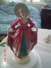 KATZHUTTE HERTWIG THURINGIA  LADY WITH FLOWERS ART DECO 1920'S GERMAN GERMANY