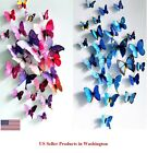 24 Pcs2 Sets 3D Butterfly Wall Stickers  Magnetic Decals Home Room Decor