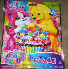 100 pc Lisa Frank Puppy & Kitten Puzzle - NIP resealable bag for storage Easter