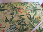 Vintage Waverly Decorator Fabric Botanical Screen Print Upholstery Ferns Flowers