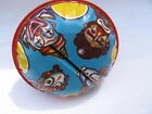 vtg 1950's 60s tin litho Circus Clown toy shaker rattle USA noise maker child