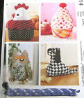 McCalls Craft Pattern DOOR STOPPER Cupcake OWl chicken dog draft blocker 42
