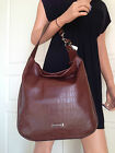 NWT COACH BEAUTIFUL BROWN EMBOSSED LEATHER SHOULDER HOBO BAG PURSE