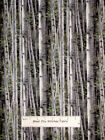 Birch Trees 100% Cotton  Reluctant Companion Gray  Wild Wings CP49472  2  Pieces