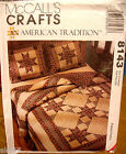 McCall's 8143 Crafts Quilt Wall Hanging Tote Bag Pillow Vest Table Cover Pattern