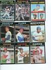 1971 Topps Card Lot nos. 1 thru 523 Pick your 15 EX or Better